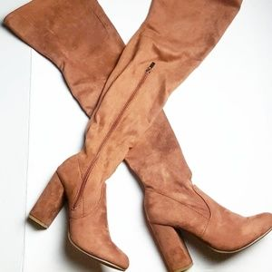 Thigh high over the knee Boots camel brown 8.5